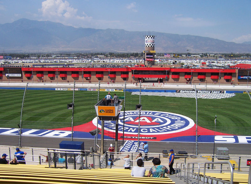 Auto Club Speedway - By Lvi56 (Own work) [CC BY 3.0 (http://creativecommons.org/licenses/by/3.0)], via Wikimedia Commons