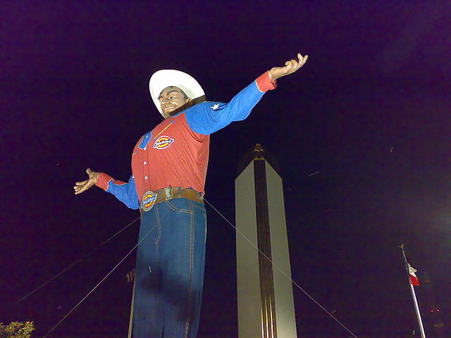 Big Tex  - Texas State Fair - By Shein from USA CC BY 2.0, https://commons.wikimedia.org/w/index.php?curid=2872083