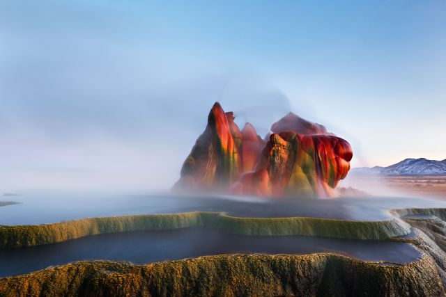 Fly Geyser in Black Rock Desert