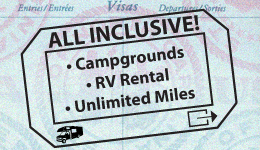 $99/night all-inclusive rv rental & campground getaway
