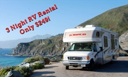 RV Rental 3 Nights $249 March 2017
