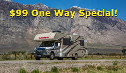 One Way RV Rental Special