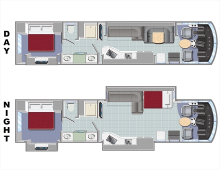 Slideout AC37 RV Floorplan