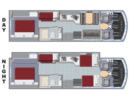 Slide-out AF33 Family Sleeper RV Floorplan