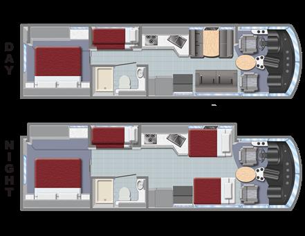 class a rv rental family sleeper af34 slideout. Black Bedroom Furniture Sets. Home Design Ideas