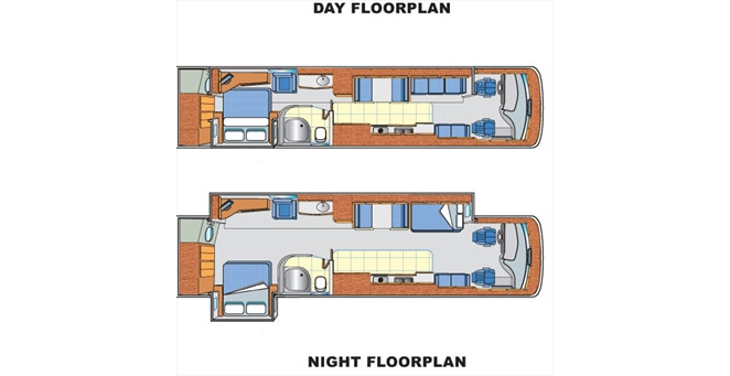 Slide-out AV39 Diesel Pusher Floorplan