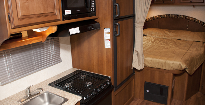 Cabover Style C22 RV Kitchen