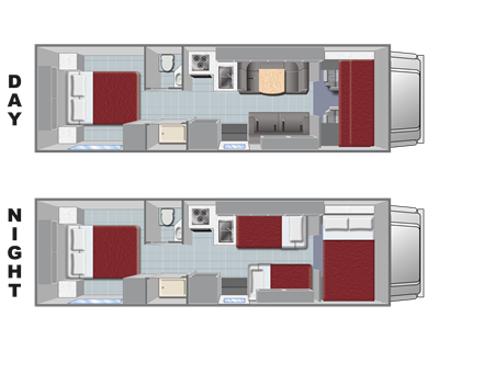 Class c rv rental large cabover style c28 rv for Cabover house plans