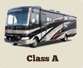 RV Rental Class A Bus Style motorhome