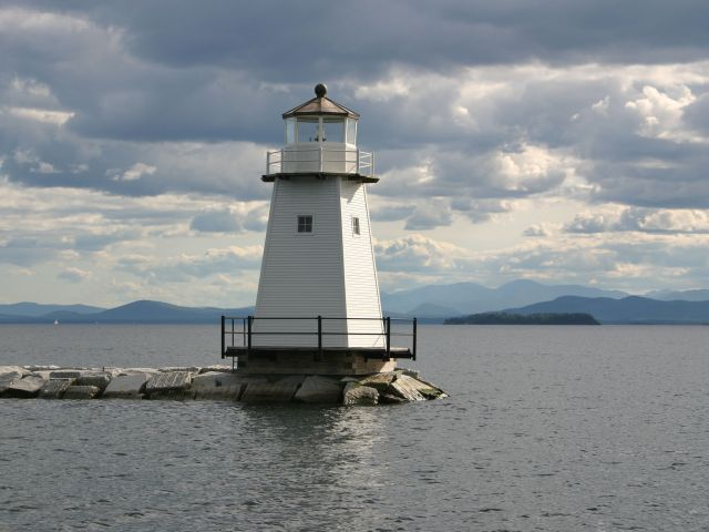 Lighthouse on Lake Champlain Vermont