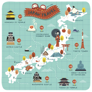 Japan Map Tourism By Prefecture
